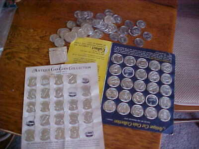Vintage Sunoco Antique car coin series 1 and 2 car coin collection Franklin Mint
