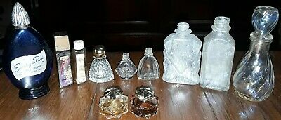 Antique Perfume Bottles - Group of 11