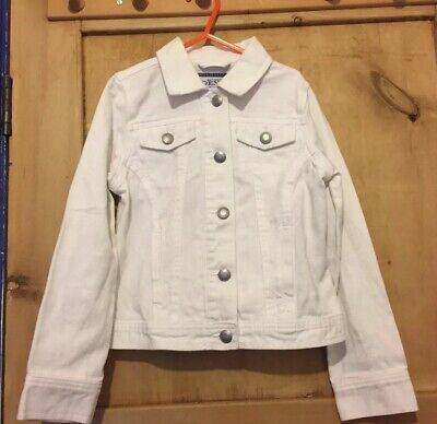 AUTHENTIC  DENIM,  GIRLS    WHITE   DENIM   JACKET    AGE.8. Yrs