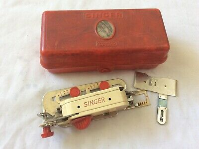 Vintage Singer Buttonhole Attachment 86718 with 86663 and Original Box