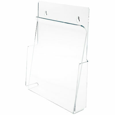 "Plymor Acrylic Pinch-Style Paper Holder (Wall-Mount), Fits 8.5""x11"" Items 3 Pack"