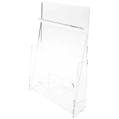 "Plymor Acrylic Pinch Paper/Catalog Holder, Fits 8.5"" x 11"" Items (3 Pack)"