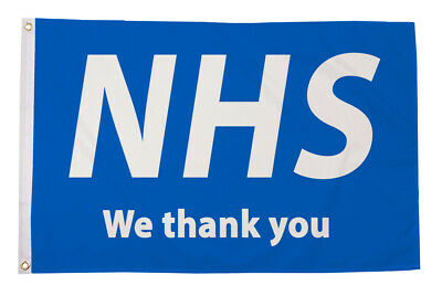 We Thank You Nhs Flag 5X3 We Donate To Help The Nhs