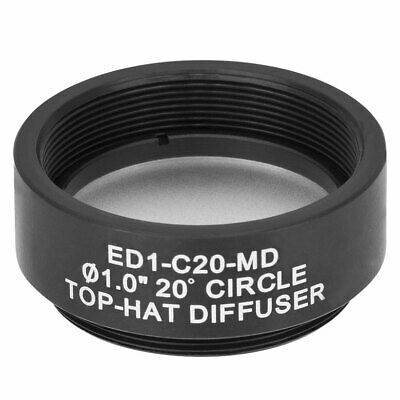"""Thorlabs ED1-C20-MD SM1 Thread Mount 1"""" in 20° Circle Top-Hat Diffuser"""