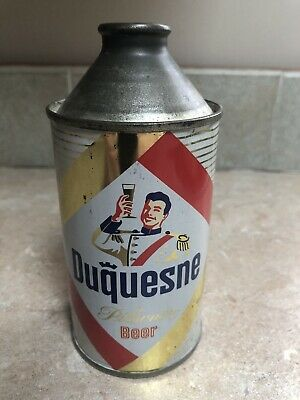 Duquesne Beer 12oz Cone Top Beer Can. Very Clean!