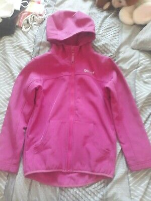 Girls Pink Gelert Soft Shell Jacket great used condition age 7-8 years