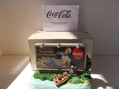 Coca Cola Billboard Bank - light up / music coin bank  Tested & Working!  NEW!
