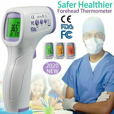 LCD Digital IR Infrared Thermometer Non-contact Temperature Ear Forehead CE FDA
