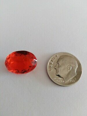 Fanta coloured sapphire. Oval. New no tags. No certificate natural
