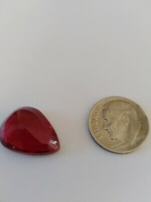Pear cut red ruby. Natural. No tags new, no certificate