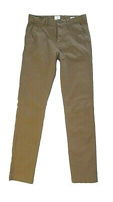 Mens H&M skinny  fit chino pants light stretch cotton brown*W29/L30