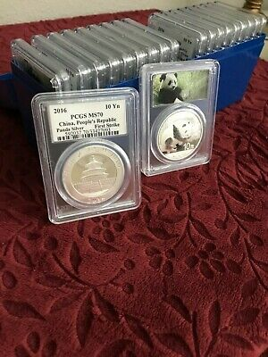2016 Silver Chinese Panda 1 oz - MS70 PCGS 'FIRST STRIKE' (box of 20) Ag.999