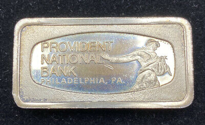 Franklin Mint Solid Sterling SILVER 1000 Grains Provident National Bank. Phil.Pa
