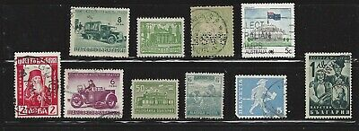 Worldwide collection of 10 old  stamps all different, see scan