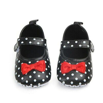 Baby Girl Shoes Toddler Infant Anti-slip Polka Dot PU First Walkers Shoes Kids