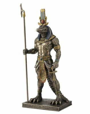 "11"" Egyptian God Sobek Statue Sculpture Egypt Home Decor Figure"