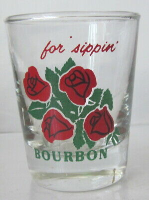 vintage shot glass compliment of Four Roses Bourbon for sippin`