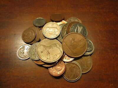 Lot of (36) Irish Coins, Ireland, 1962- 2000- 1/2 Penny to Half Crown
