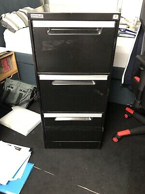 3 draw steel Black filing cabinet