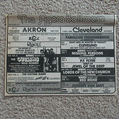 VINTAGE 80s Missing Persons Lords Of the New Church Concert Newspaper Ad 1983