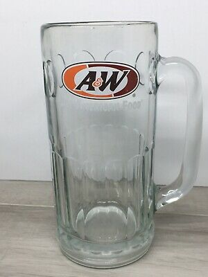 "Vintage A&W Heavy Glass 7"" Tall Root Beer Mug"