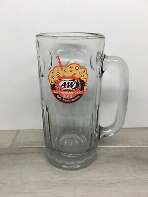 "Heavy Glass A&W Root Beer Mug 7"" 2012 All American Food"