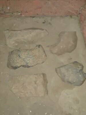 Lot Of 5 Large Worked Ancient Stone Tools??