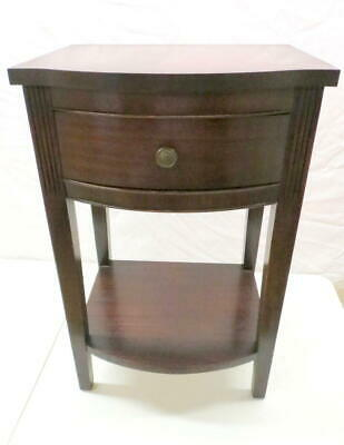 Pair Mahogany Bowfront Nightstands Night Stands Bedside Cabinets Duncan Phyfe