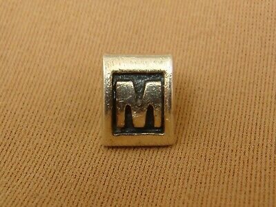 Authentic PANDORA Sterling Silver INITIAL M Charm Bead