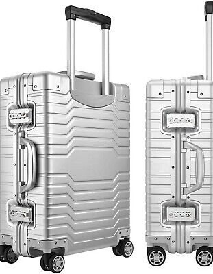 Yuemai All Aluminum Alloy Luggage 20in Carry On Spinner Suitcase with TSA Locks