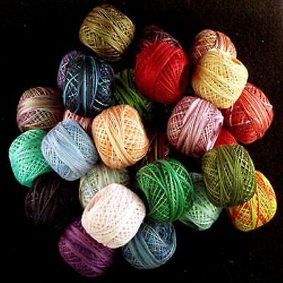 O539 Valdani Perle Cotton Size 12 Embroidery Thread Variegated Hand Dyed O520