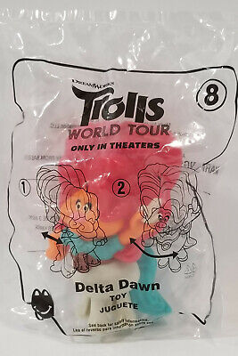 TROLLS 2 World TOUR Happy Meal Toy #8 DELTA DAWN McDonalds May 2020