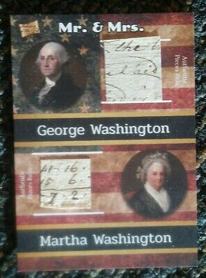 2020 The Bar -- Pieces of the Past -- GEORGE + MARTHA WASHINGTON -- Relic