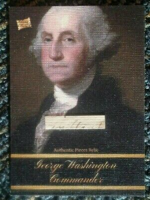 2020 The Bar -- Pieces of the Past -- GEORGE WASHINGTON -- Document Pieces Relic
