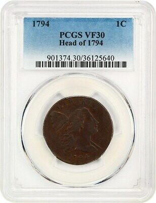 1794 1c PCGS VF30 (Head of 1794) - Flowing Hair Large Cents (1793-1796)