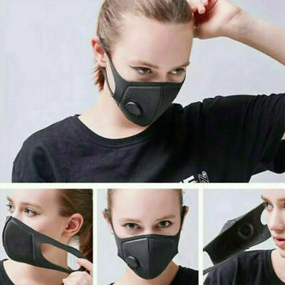Washable Anti-Fog Haze Face Mouth Cover Protection Filter Respirator-Breathable
