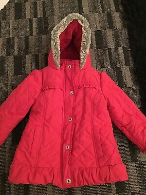 M&S Marks and Spencer Autograph Girls Red Anorak Age 3-4