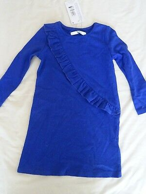 M&S Kids Marks & Spencer Sparkly Blue Casual Dress Asymmetric Detail - 1.5 - 2 Y