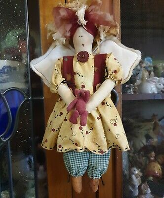 BEAUTIFULLY MADE Handmade Cloth Doll SIZE  27CMS IN HEIGHT.
