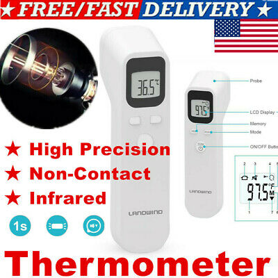 Non-contact Forehead Infrared Thermometer Digital LED Backlit Hand-held USA