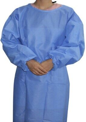 10 Pack / HEAVY Non-woven Disposable Gown  Disposable Suit *SAME DAY SHIPPING*