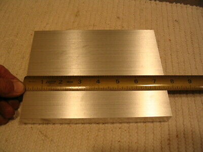 "QTY 5 LOT size 3/4"" X 7.600 x 5.800  ALUMINUM 6061 Solid Plate Stock .750 thick"
