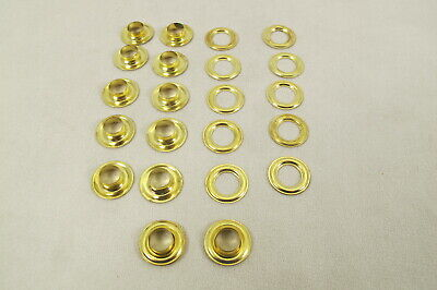 """100 # 2 (3/8"""") Solid Brass Self Piercing Grommets & Washers 100 pair"""