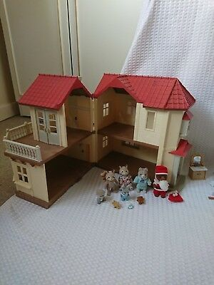 Sylvanian Families 1985 Epoch Beechwood Hall &Cosy Cottage/ Sets Furniture&Figs