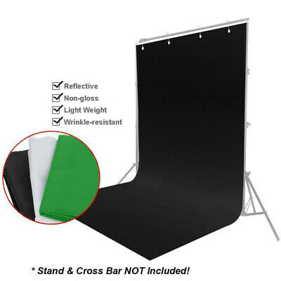 Green White Black Screen Background Photography Photo Backdrop Non-woven Fabrics