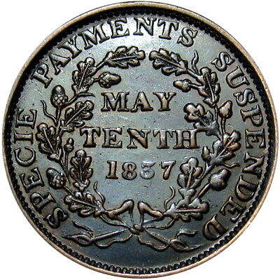 1837 Species Payments Suspended Hard Times Token HT-65 Low 40
