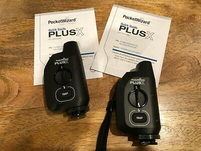 PocketWizard Plus X Radio Trigger with 10 Channels (Set of 2) + Carrying Bag