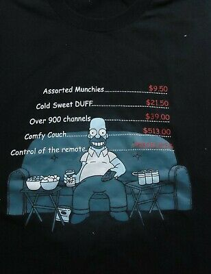 Vintage The Simpsons Homer Remote Control Priceless T Shirt (Large)