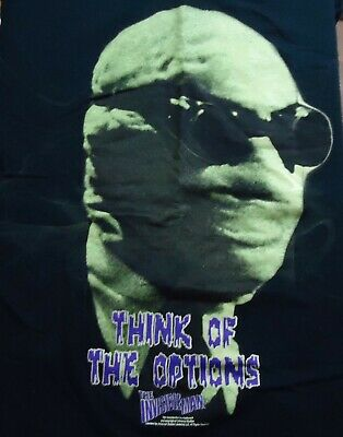 Vintage The Invisible Man Think of the Options T Shirt (Medium)