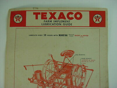 1944 Vintage TEXACO HORSE DRAWN PLANTER FARM LUBE Old Gas Station 11x18 in. Sign